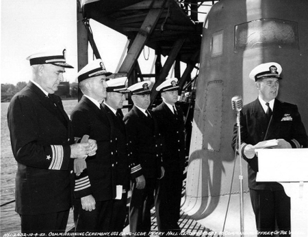 BANG second recomissioning - October 4, 1952 - Lcdr Perry Hall commanding