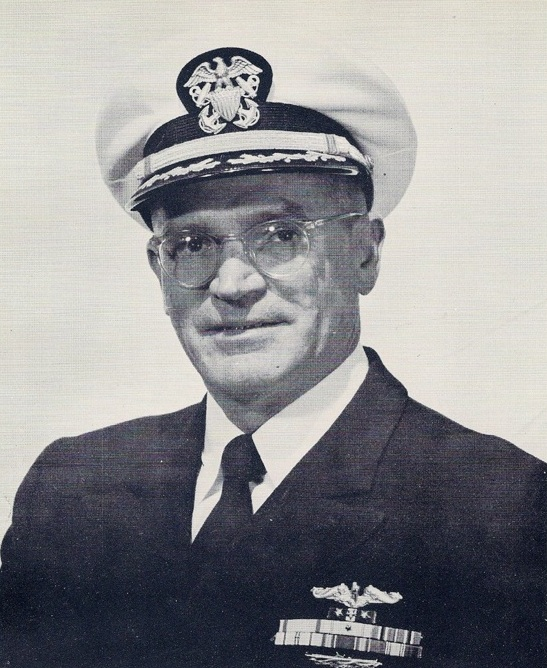 Captain Antone R. Gallaher as CO of USS Prarie (AD-15)