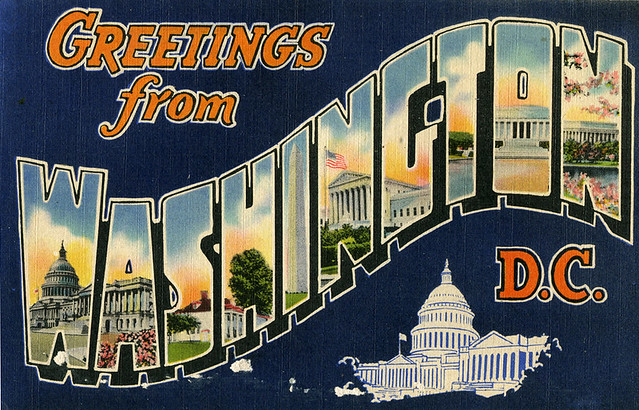 Greetings from Washington, DC post card
